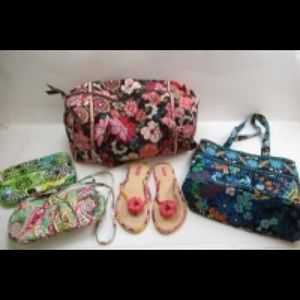 Vera Bradley purse lot with Sandals